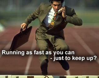 Running as fast as you can - just to keep up?